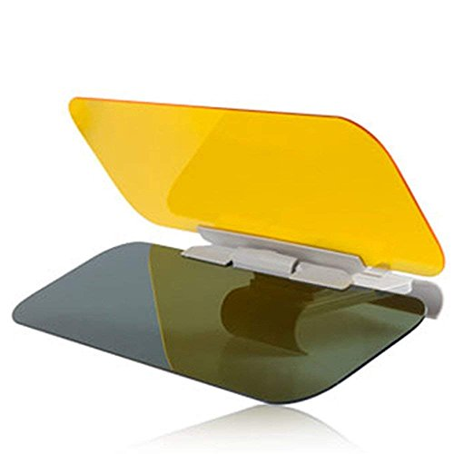 Mintice™ 2 in 1 KFZ Sonnenblende Blendschutz Transparent Anti-Glare Glanz Glas Tag und Nacht Sonnenschutz Sichtschutz Reinigungstuch Glotzen