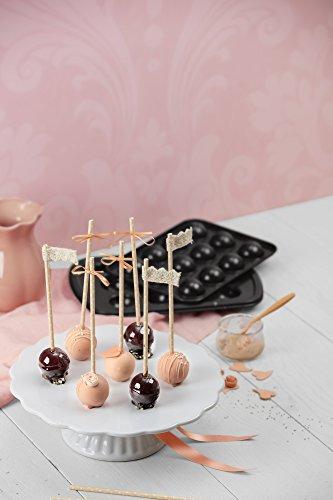 Kaiser Inspiration Cake Pop Backform, 2-teilig, für 12 Cake Pops, 29 x 19 cm, antihaftbeschichtet, kurze Backzeit für süße und herzhafte Rezepte