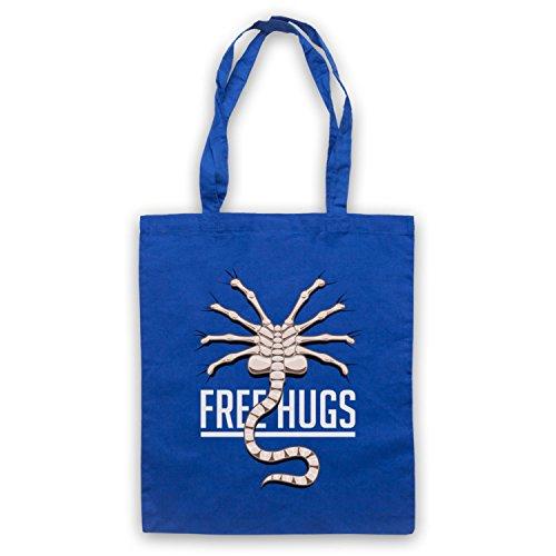 Inspiriert durch Aliens Free Hugs Inoffiziell Umhangetaschen Blau