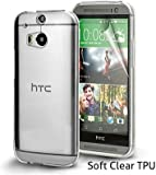 Ultra Thin Crystal Clear Transparent Soft Gel Case Cover for HTC One M8