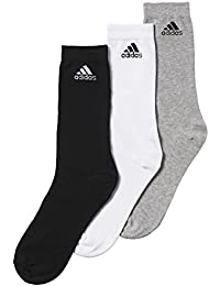 Adidas performance crew lot de 3 paires de chaussettes thin Multicolore Noir/gris/blanc, lot de 3