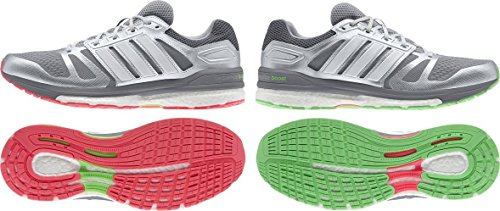 adidas Supernova Sequence Boost 7 Chill Scarpe da corsa Uomo silver metallic-grey-flash green