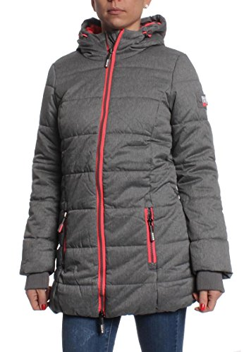 Superdry Mantel Women TALL SPORTS PUFFER Grey Marl, Größe:S (Mantel Puffer Jacke)