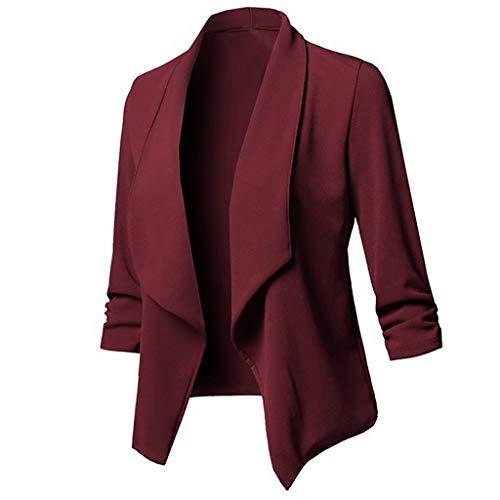 Kostüm Niedrigen Preisen - Damen Sakko Cardigan Elegant Blazer Leicht DüNn LäNgere Leichte Jacke Fließt Wunderbar Und Ist SchöN Leicht Locker Fallendes zu Jeans T-Shirt Aber Auch zur Edlen Anzughose Pumps