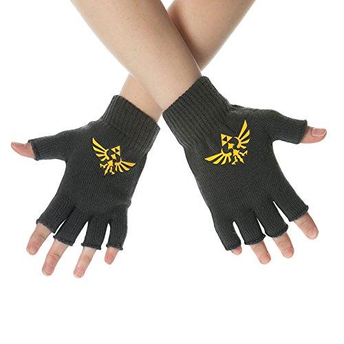 Nintendo Zelda guantes la Leyenda de Zelda Skyward Sword guantes sin dedos Triforce