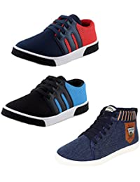 Bersache Men Combo Pack of 3 Casual Shoes
