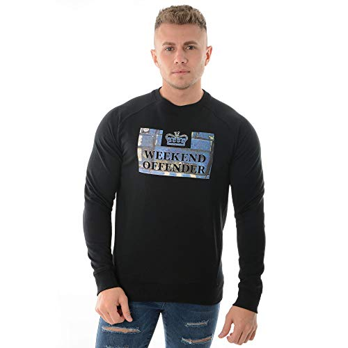 Weekend Offender Boxes 1804 Sweat Top X-Large Black