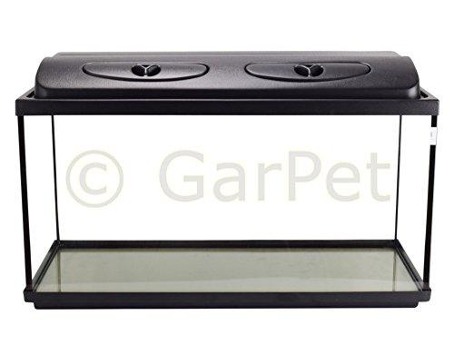 Aquarium Komplett Set rechteckig mit LED Abdeckung Filter Heizer Aquariumset (80x35x40 Set LED)