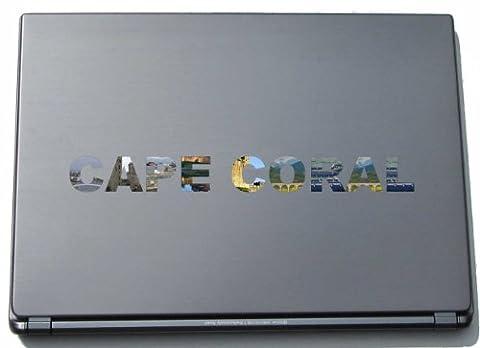Cape Coral Laptop Aufkleber Laptop Skin 210 mm mit Sehenswürdigkeiten