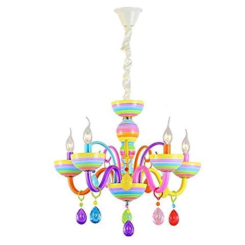 Luxus Kinder Schlafzimmer Kerze Kronleuchter Lampe Kristall Anhänger Eisen Poliert Kronleuchter 3/5/6/8 Lampe Kappe E14 Licht (nicht Tragen E14 Lichtquelle) ( Color : 5 Lamp Cap )