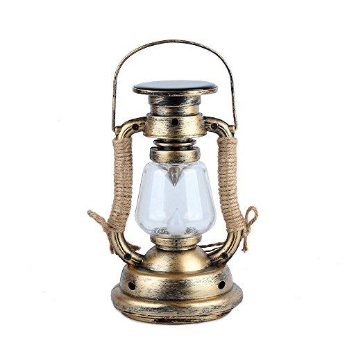 Cankun LED Sturmlaterne: LED-Sturmlampe Mit Akku & Solar, Bronze, 245 Lumen, 3,6Watt (Sturmleuchte) -