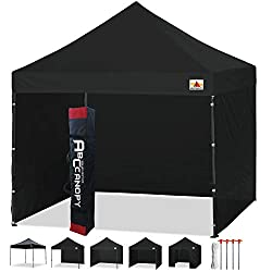 ABCCANOPY Patio 3x3 Gazebo Fully Waterproof Heavy Duty Pop Up Gazebo With 4 Walls+ HandBag (black)