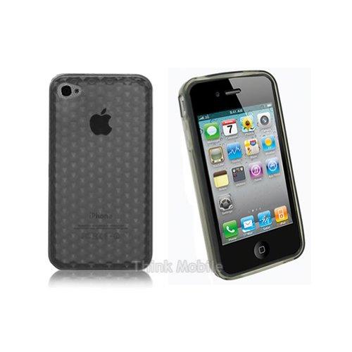 Apple iPhone 5 / 5s Etui Coque - Housse Etui Portefeuille Pu Cuir Rouge Pour Le Apple iPhone 5 5S - thinkmobile Diamant Clair