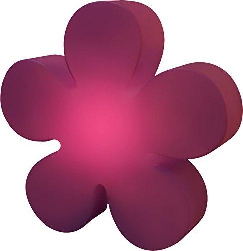 8 seasons design | Blumendeko leuchtend Blume Shining Flower (E27, Ø 40cm, UV- & niederschlagsfest, für Innen- & Außenbereich, Beleuchtungsdeko) violett