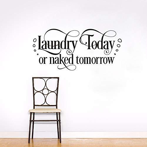 Wäsche Wandtattoo Zitat Waschküche Zimmer Abnehmbare Zitat Vinyl Wandaufkleber Waschküche ZeichenWandkunst Wandhauptdekor 77x47 cm