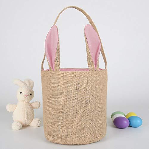 Aufbewahrungsbeutel,Rifuli® Eierkorb Holiday Rabbit Bunny Gedruckte Leinwand Geschenk Carry Eggs Candy Bag Aufbewahrungskörbe Baby Kinderzimmer Dekoartikel