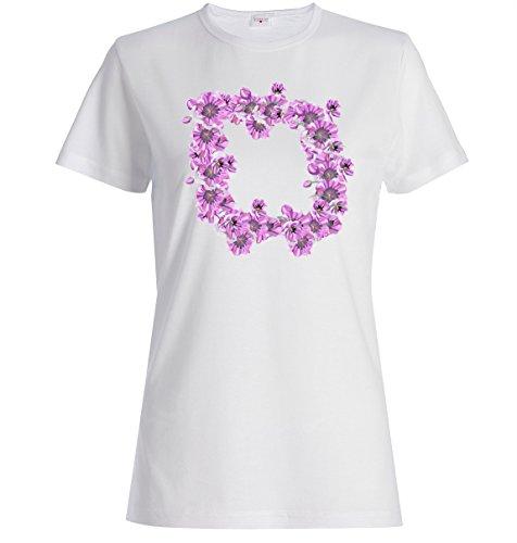 Spring flowers garland logo dope Dammen baumwolle t-shirt Weiß