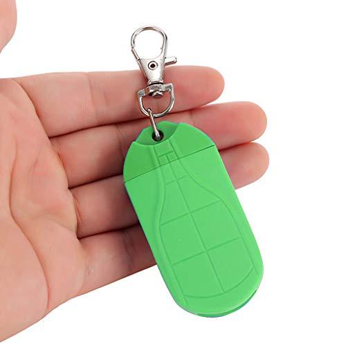 TianranRT Mini COB LED Taschenlampe Licht Schlüsselanhänger Licht Outdoor Rucksack Angeln Taschenlampe (Grün)