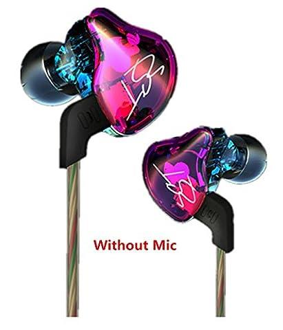 Joyeer Armature Dual Driver Super Treble Middle Bass Kopfhörer Abnehmbare Kabel In-Ear Audio Monitore Kopfhörer Geräusch Isolieren HiFi Musik Sport Earbuds ,