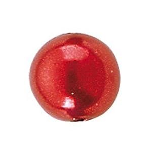 Gütermann / KnorrPrandell 6086152 - Cuentas de 3 mm de Color Rojo, 125 Piezas / Bolsa Importado de Alemania