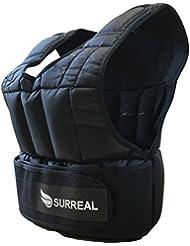 Chaleco lastrado ajustable, de Surreal, para pérdida de peso, entrenamiento o gimnasio (