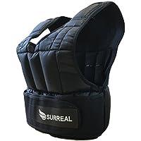 Chaleco lastrado ajustable, de Surreal, para pérdida de peso, entrenamiento o gimnasio (5/10/15/20/30 kg), tamaño 20 kg