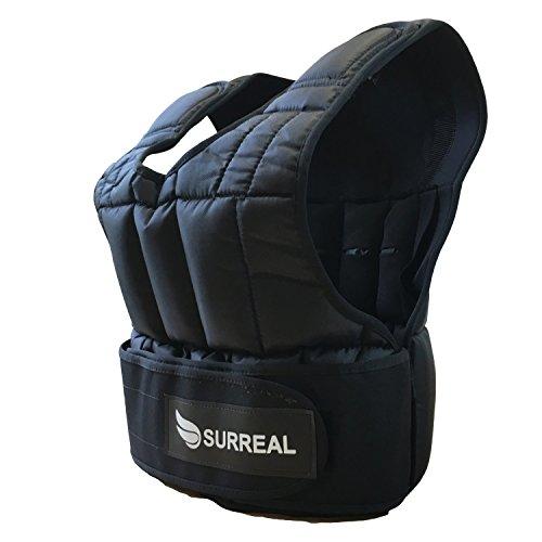 Surreal Gewichtsweste, verstellbar, erhältliches Gewicht: 5 / 10 / 15 / 20 / 30kg, zum Gewichtsverlust / Fitnesstraining, 20 kg