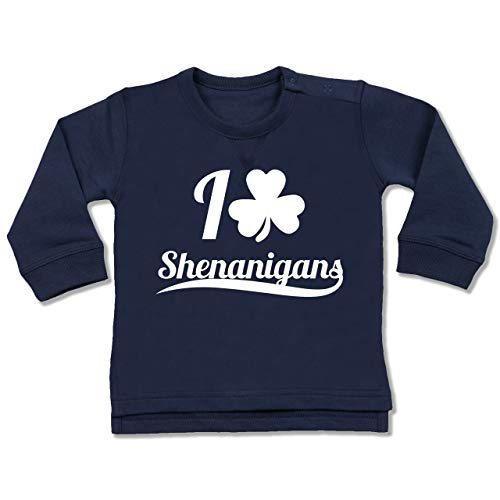 Up to Date Baby - I Heart Shenanigans - St. Patricks Day - 18-24 Monate - Navy Blau - BZ31 - Baby Pullover