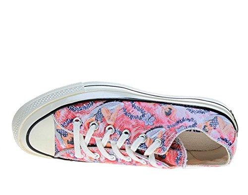 Converse Chuck Taylor All Star Ox, Unisex-Erwachsene Sneaker Hawaian Floral