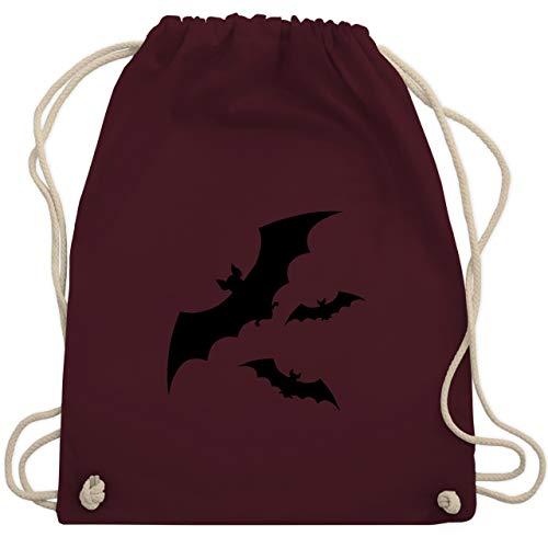 Halloween - Fledermäuse - Unisize - Bordeauxrot - WM110 - Turnbeutel & Gym Bag