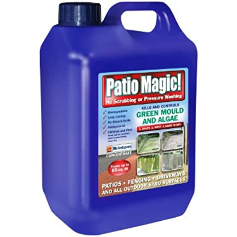 Scotts Miracle-Gro Patio Magic Verde muffa e alghe Killer concentrato liquido bottiglia, 2,5 l - Moss Killer