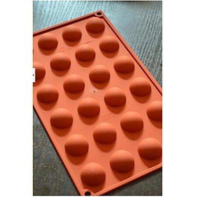 lllzz 24Halbkreis Schokolade Form Kuchen, Silikon 29,8× 17,4× 1,5cm (11,7× 6,9× 1,5cm) - Ninja Turtles-silikon-form