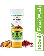 Mamaearth Ubtan Natural Face Wash for Dry Skin with Turmeri