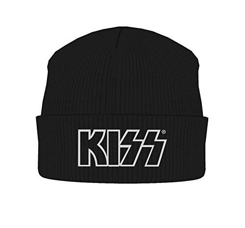 Kiss Mütze Beanie Cap classic band Logo offiziell Nue Schwarz