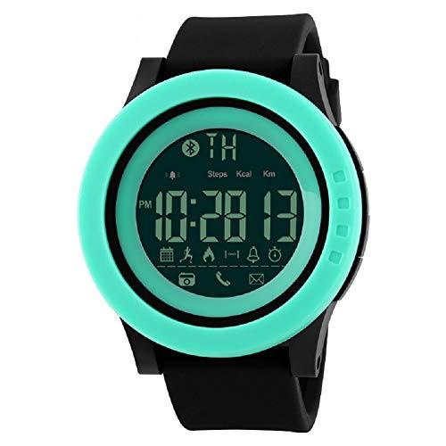 V.JUST Lässige Smart Watch Männer wasserdichte Sport Digitaluhr Bluetooth Calorie Schrittzähler, Herrenuhren LED Digital Handgelenk Alarm 50m für Männer/Jungen,B