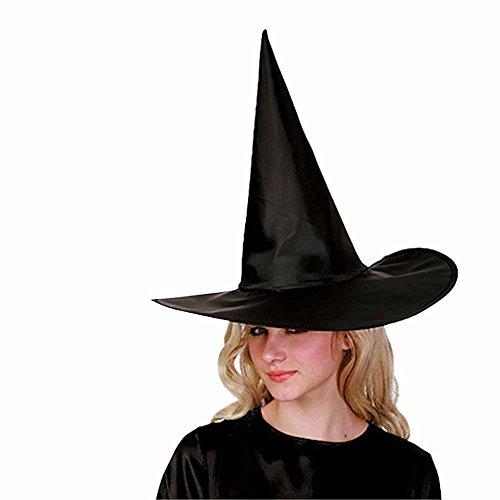 Eizur Halloween Hexenhut Hexenhut Zauberhut Kostüm Halloween Kostüm Kappe für Erwachsene