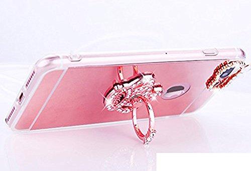 Paillette Coque pour iPhone 7 Plus/8 Plus,iPhone 8 Plus Coque Silicone Étui Ultra Mince Housse, iPhone 7 Plus Souple Coque Etui en Silicone, iPhone 7 Plus Silicone Case Soft TPU Cover, Ukayfe Etui de  couronne impériale-Or