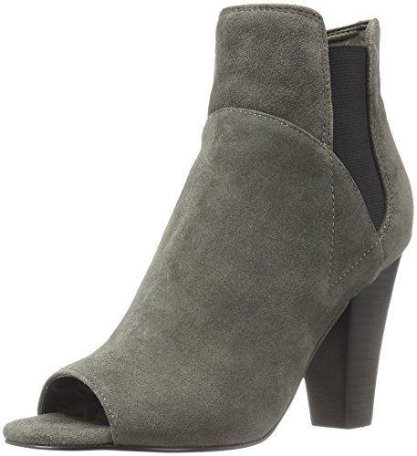 Guess Frauen besy Peep Toe Wildleder Chelsea Stiefel Grau Groesse 10 US /41.5 EU Guess Peep Toe