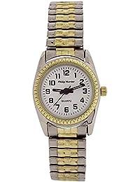 Philip Mercier–Ladies blanco Dial dos Tono de expansión pulsera correa reloj MC71