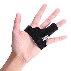 Clispeed Abzugsfinger Sprint Finger Sprint Support Verstellbarer Befestigungsgurt (aus Aluminium) Einheitsgröße (Schwarz)