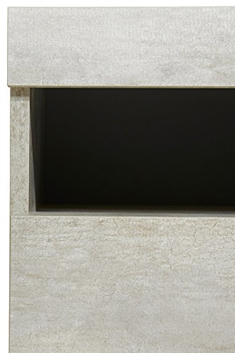 Wohnwand Anbauwand mit Lowboard 3-teilig 543687 betonfarben - 6