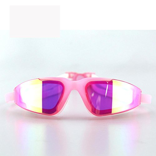 Occhialini Da Nuoto Per Adulti Antinebbia / Colorful Fashion Placcatura Occhiali / Specchio Di Nuoto Grande Scatola Hd Silicone , Pink,rosa