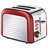 Breville 2-Slice Stainless Steel Toaster, Carnelian Red