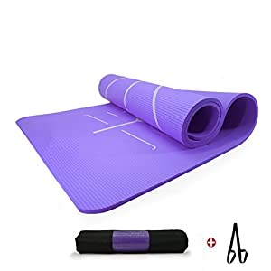 YJD Yogamatte – NBR Material, Breite 80 cm X Länge 185 cm X Dicke 10 mm GHJ