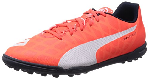 Puma evoSPEED 5.4 TT Herren Fußballschuhe Orange (lava blast-white-total eclipse 01)