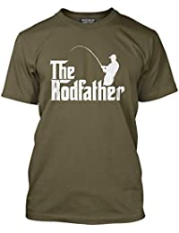 HotScamp The Rodfather - Fathers Day Dad Father Gift - Mens T-Shirt d6e779956