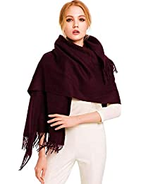 2ef9761e590c Accessoire Top Tendance Écharpe Femme Étole Pashmina Cachemire Foulard  Châle Automne – Hiver Touché Soyeux Couleur