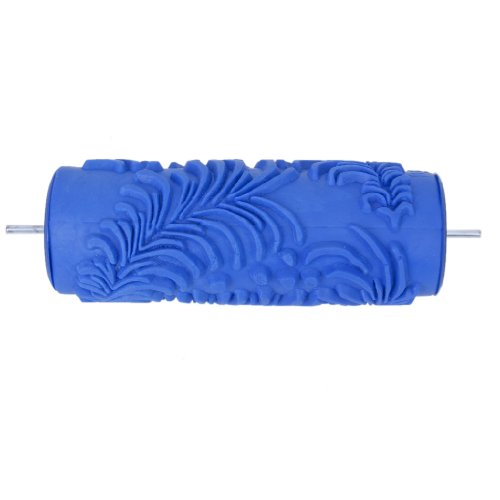 Decoración 15cm De La Pared Patrón De Flores Empaistic Pintura Rodillo Para La Máquina De La Decoración De Bricolaje - Azul