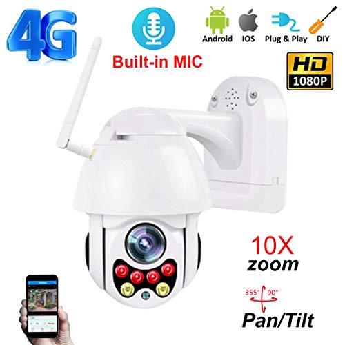 CDF65 4G 5 Millionen Pixel 10facher Zoom mit HD-Sound-Webcam IP66 im Freien wasserdichte 4G-Fernüberwachungskamera mit 35M Nachtsicht,10xzoom+64GB - 4g Webcam