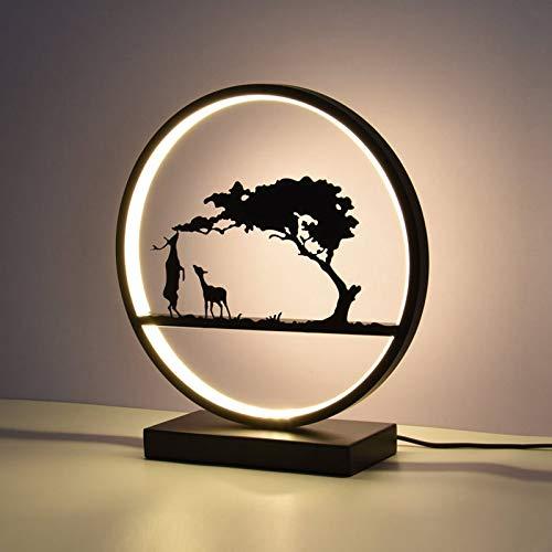 Elch-outdoor-beleuchtung (Led tischlampe schlafzimmer hochzeitszimmer nachttischlampe hochzeitsgeschenk hochzeitsgeschenk kreative studie nachtlicht dekoration tischlampeelch abschnitt - fernbedienung elektrodenlos 12 watt)